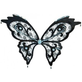 Butterfly Wings. Black Lace (Animals , Halloween Disguises)
