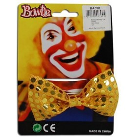 Bow Tie Sequin Gold (Clowns Fancy Dress)