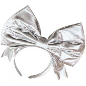 Bow On Headband, Silver (1980S , Burlesque Fancy Dress Hats)