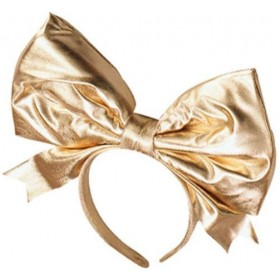 Bow On Headband, Gold (1980S , Burlesque Fancy Dress Hats)