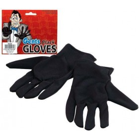 Gloves. Gents Black (Halloween , Cops/Robbers Gloves)