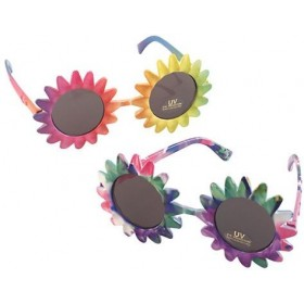 Sunglasses. Sunflower. Multi (1960S , 1970S Fancy Dress Glasses)