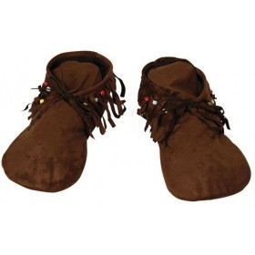 Hippy/Indian Moccasins. Lady'S (Cowboys/Indians Fancy Dress Shoes)