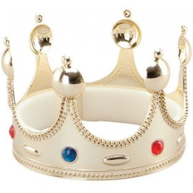 Kings Crown. Superior. Gold (Royalty , Medieval Fancy Dress Hats)