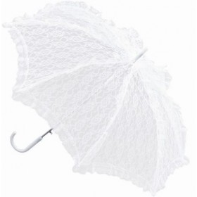 Parasol. White Lace (Burlesque , Renaissance Fancy Dress)