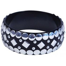 Punk Rock Stud Bangle (1980S Fancy Dress Jewellery)
