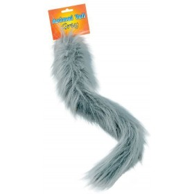 Animal Tail. Grey (Animals Fancy Dress Disguises)