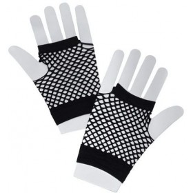 Fishnet Gloves. Short Black (1980S Fancy Dress Gloves)