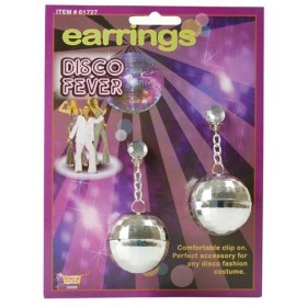 Disco Ball Earrings (1970S Fancy Dress Jewellery)