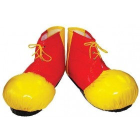 Clown Shoe Covers. Adult (Clowns Fancy Dress Shoes)