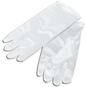 Childs Gloves. White (Halloween , Clowns Gloves)