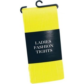Tights. Ladies Yellow (Clowns , 1980S Fancy Dress Tights)