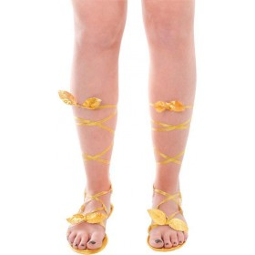 Goddess Sandals Gold. Ladies (Greek , Roman Fancy Dress Shoes)