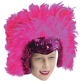 Feather Headdress Pink Deluxe (1920S , Burlesque Fancy Dress)