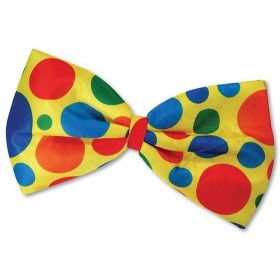 Clown Jumbo Bow Tie (Clowns Fancy Dress)