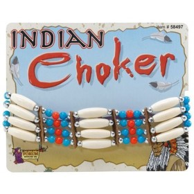 Native American Choker Deluxe (Cowboys/Native Americans Fancy Dress Jewellery)