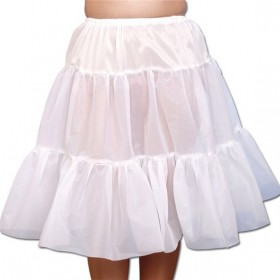 Petticoat. White (Medieval , Renaissance Fancy Dress)