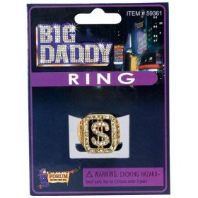Big Daddy Ring (1970S , Pimp Fancy Dress Jewellery)