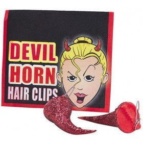 Devil Horn Hair Clips (Halloween Fancy Dress)