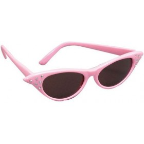 Sunglasses/Dark Lens Pink 50'S (1950S Fancy Dress Glasses)