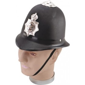 Police Helmet. Hard Plastic (Cops/Robbers Fancy Dress Hats)