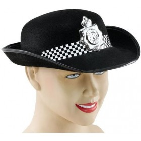 Woman P C Felt Hat (Cops/Robbers Fancy Dress Hats)