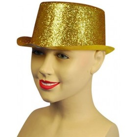 Glitter Gold Toppers, Plastic (1920S Fancy Dress Hats)