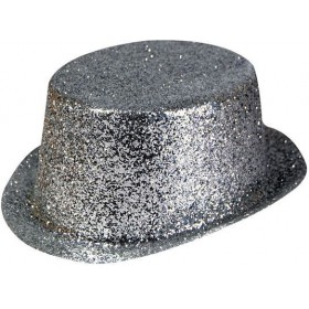 Glitter Silver Toppers, Plastic (1920S Fancy Dress Hats)