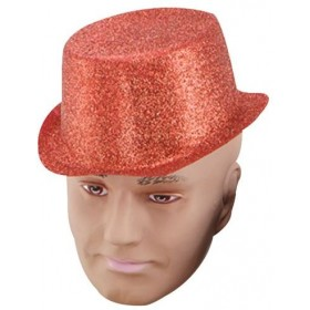 Glitter Red Toppers, Plastic (1920S Fancy Dress Hats)