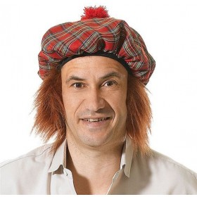 Scots Tartan Hat/Ginger Hair (Cultures Fancy Dress Hats)