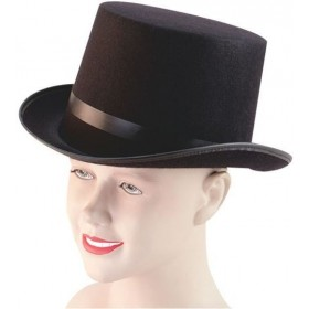 Top Hat Felt Black /Budget (1920S Fancy Dress Hats)