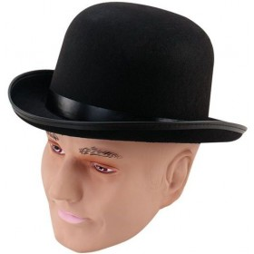 Bowler Hat Black/Budget (1920S Fancy Dress Hats)