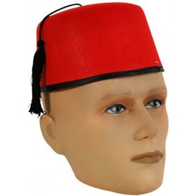 Fez Felt Hat (Cultures Fancy Dress Hats)