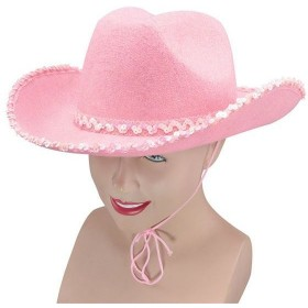 Cowboy Pink Felt Hat/Sequins (Cowboys/Indians Fancy Dress Hats)