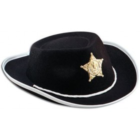 Cowboy Black Felt Childs Hat (Cowboys/Indians Fancy Dress Hats)