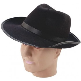 Gangster Hat. Black Felt (1920S Fancy Dress Hats)