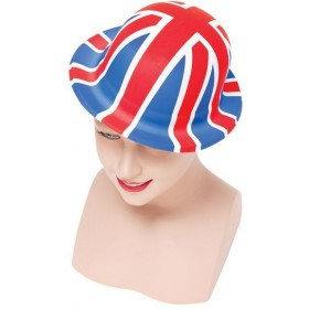Union Jack Plastic Bowler (Budget) (Cultures Fancy Dress Hats)