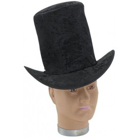Top Hat Velvet Black (1920S , Old English Fancy Dress Hats)