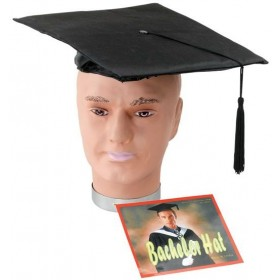 Mortar Board Pvc Budget Hat (School Fancy Dress Hats)