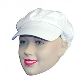Shiny White Pvc Hat (1960S , 1970S Fancy Dress Hats)