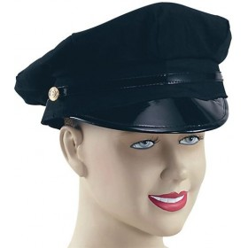 Peaked Hat Black (Heroes Fancy Dress Hats)