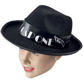 Al Capone Budget Black Felt (1920S Fancy Dress Hats)
