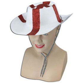 St George Flock Cowboy Hat (Cowboys/Indians Fancy Dress Hats)