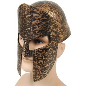 Spartan Helmet 2Pc Gold (Greek , Roman Fancy Dress Hats)