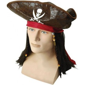 Pirate Caribbean Hat + Hair (Pirates Fancy Dress Hats)