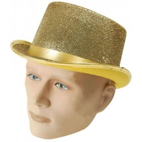 Top Hat. Gold Lurex (1920S Fancy Dress Hats)