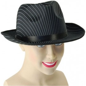 Gangster Hat. Pin Stripe (1920S Fancy Dress Hats)