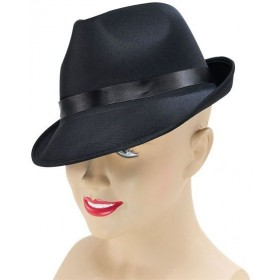 Madness Hat. Black Fedora (1920S Fancy Dress Hats)