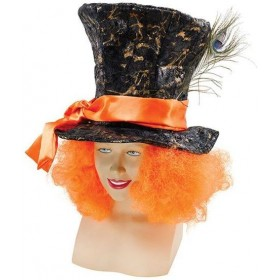 Mad Hatter Hat + Hair (Film , Fairy Tales Fancy Dress Hats)