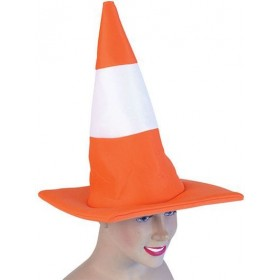 Traffic Cone Hat (Clowns , Hen & Stag Fancy Dress Hats)